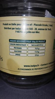 bouillon de légumes en granules - Nutrition facts