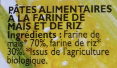 Epicerie / Céréales, Graines, Pâtes, Riz / Pâtes Blanches - Ingrédients - fr