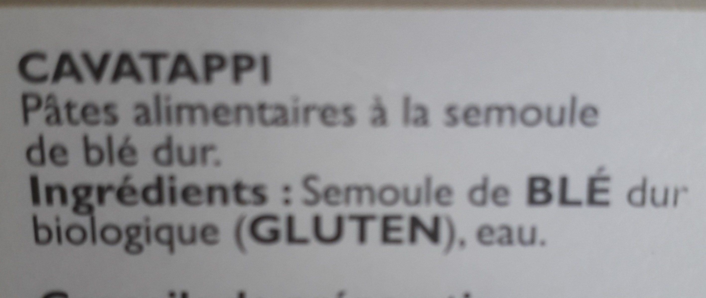 Epicerie / Céréales, Graines, Pâtes, Riz / Pâtes Blanches - Ingrédients