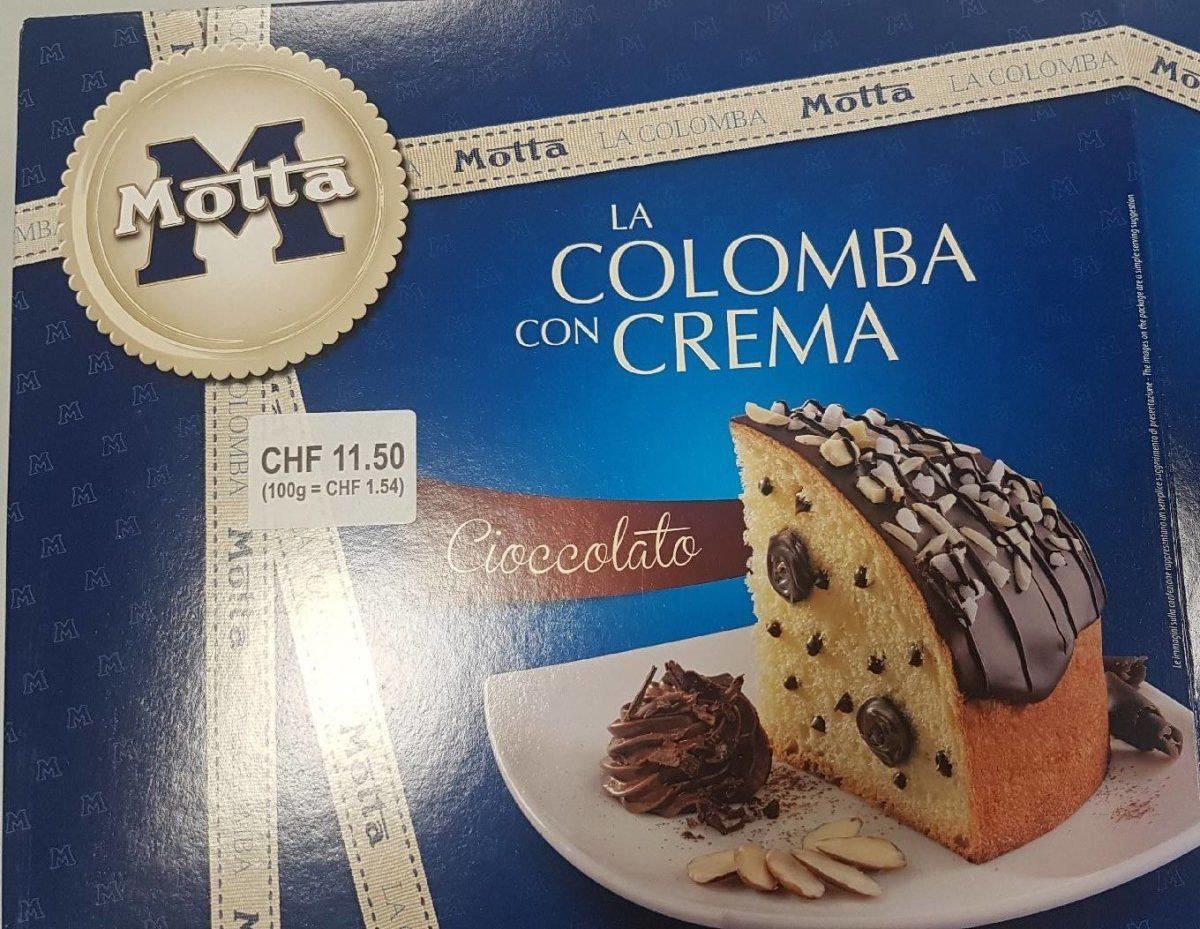 La Colomba Con Crema Cioccolato Motta