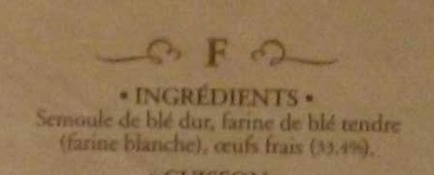 Fettuccine di Campofilone - Ingrediënten - fr