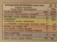 Fettuccine di Campofilone - Voedingswaarden - fr