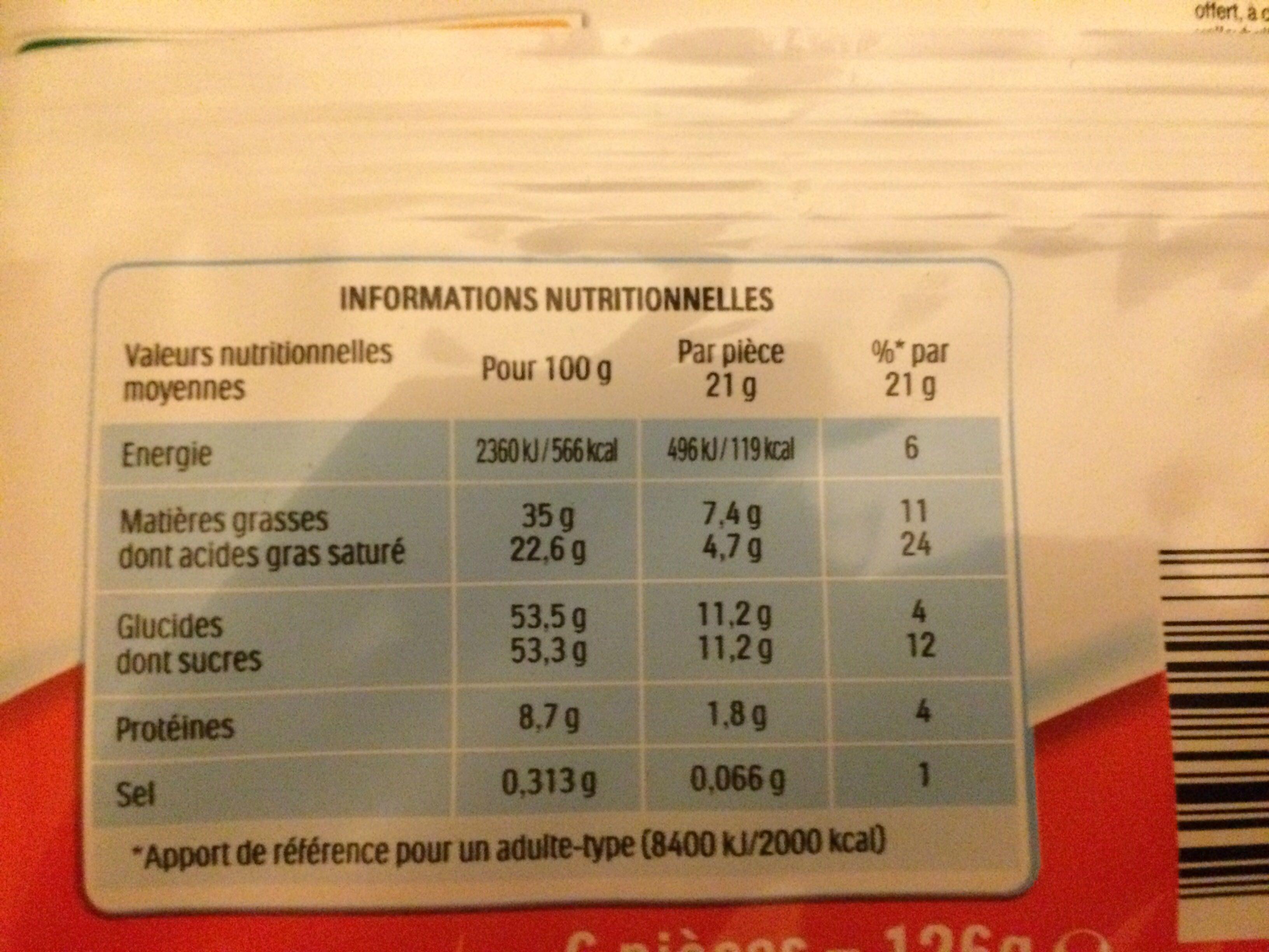 Kinder Maxi - Informations nutritionnelles - fr