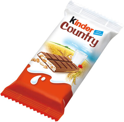 Kinder country barre de cereales enrobee de chocolat 1 barre - Product - fr