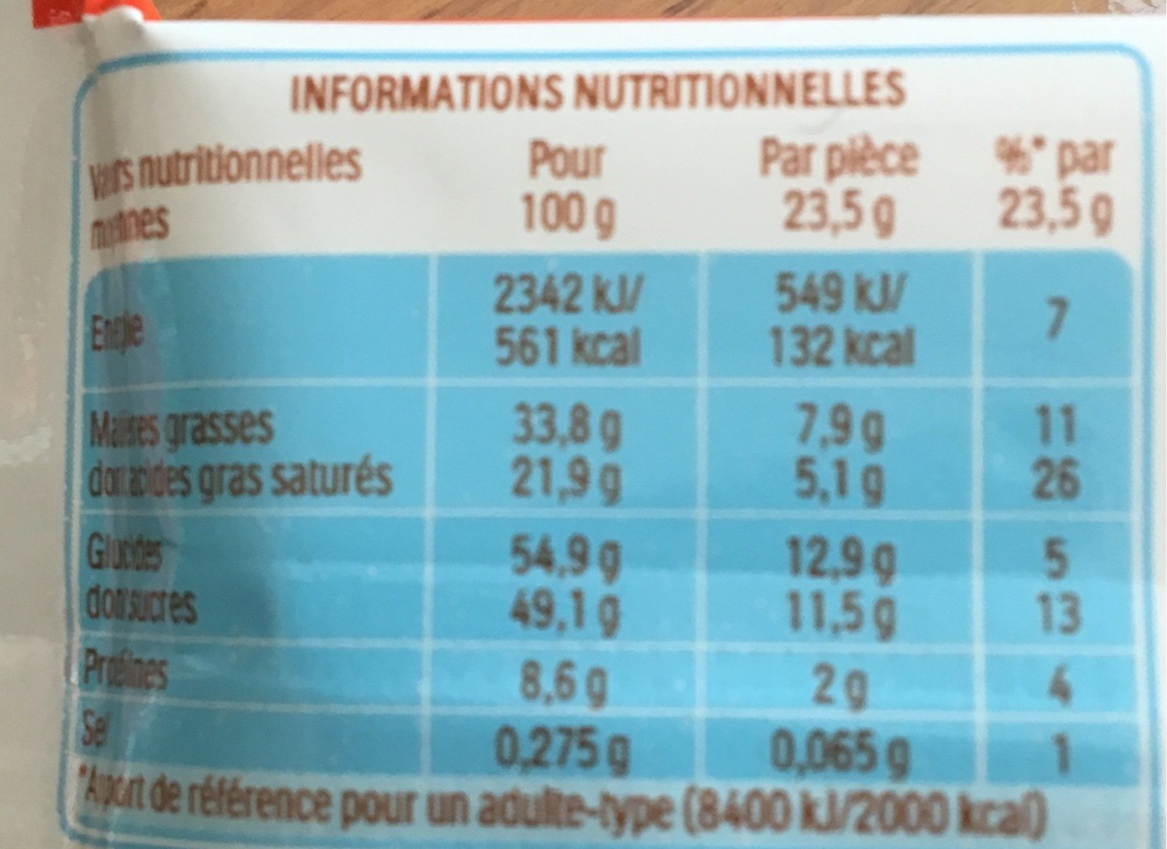Kinder country barre de cereales enrobee de chocolat 1 barre - Nutrition facts - fr