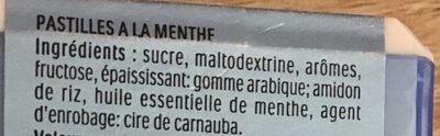 Bonbons tic tac goût menthe extra fraiche - Ingrediënten - fr