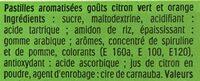 Tic Tac goûts citron vert & orange - Ingrediënten - fr