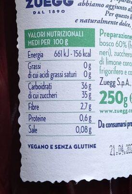 Preparazione frutti di bosco - Informations nutritionnelles - it