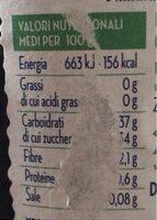 Confiture de cerises - Informations nutritionnelles - en