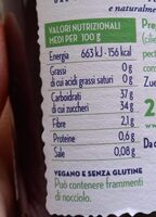 Confettura ciliegie - Nährwertangaben - en
