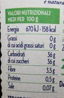 100% da frutta - mirtilli neri - Valori nutrizionali - it