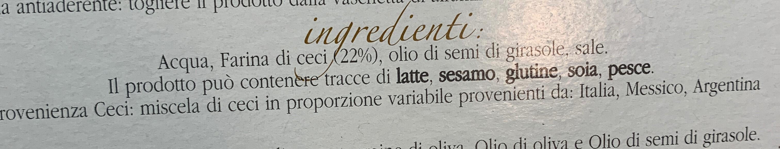 La farinata della spezia - Ingredients - it