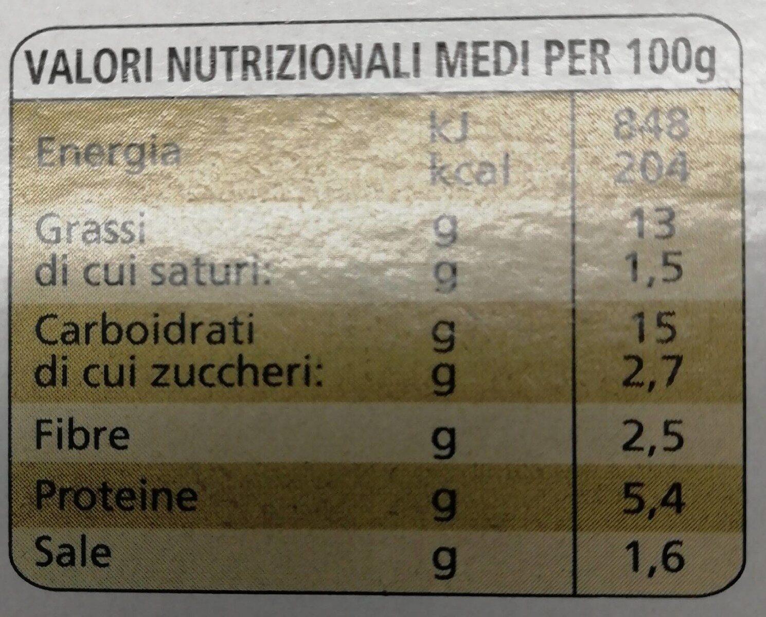 La farinata della spezia - Nutrition facts - it