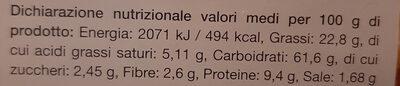 Focaccine all'olio di riso - Informations nutritionnelles - it