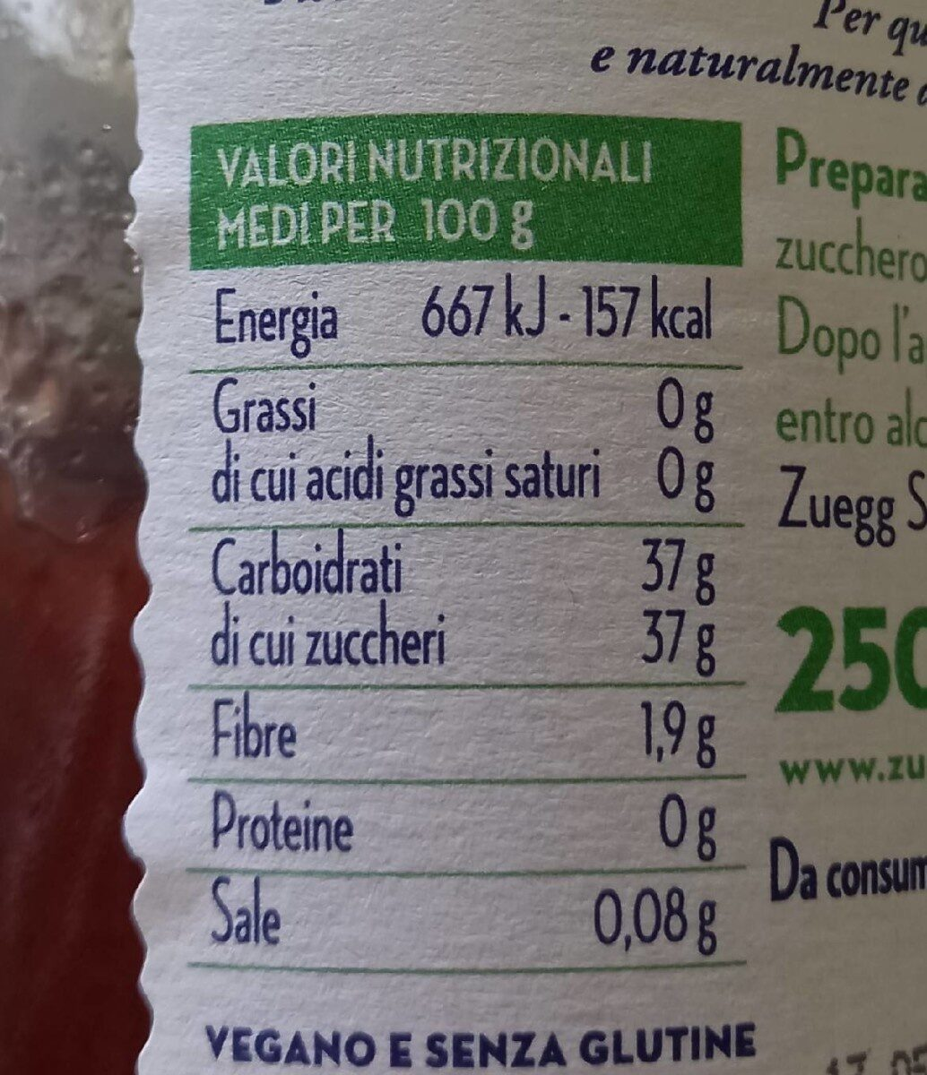 preparazione di fragole - Informations nutritionnelles - fr