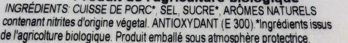 Citterio prosciutto cotto Bio - Ingrediënten - fr