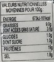 Prosciutto Cotto Bio - Nutrition facts