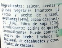 Crema para untar de avellanas y cacao con soja - Ingredientes - es