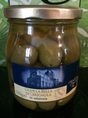 Olives vertes entières La Bella Di Cerignola en saumure - Produit - fr
