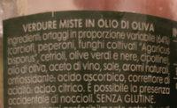 Antipasto di verdure in olio di oliva - Ingredients - it