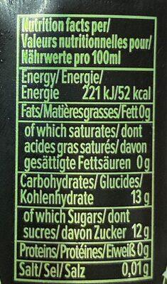 Mojito soda - Informations nutritionnelles - fr