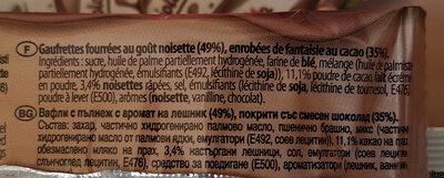 Nocciolotto - Ingrédients - fr