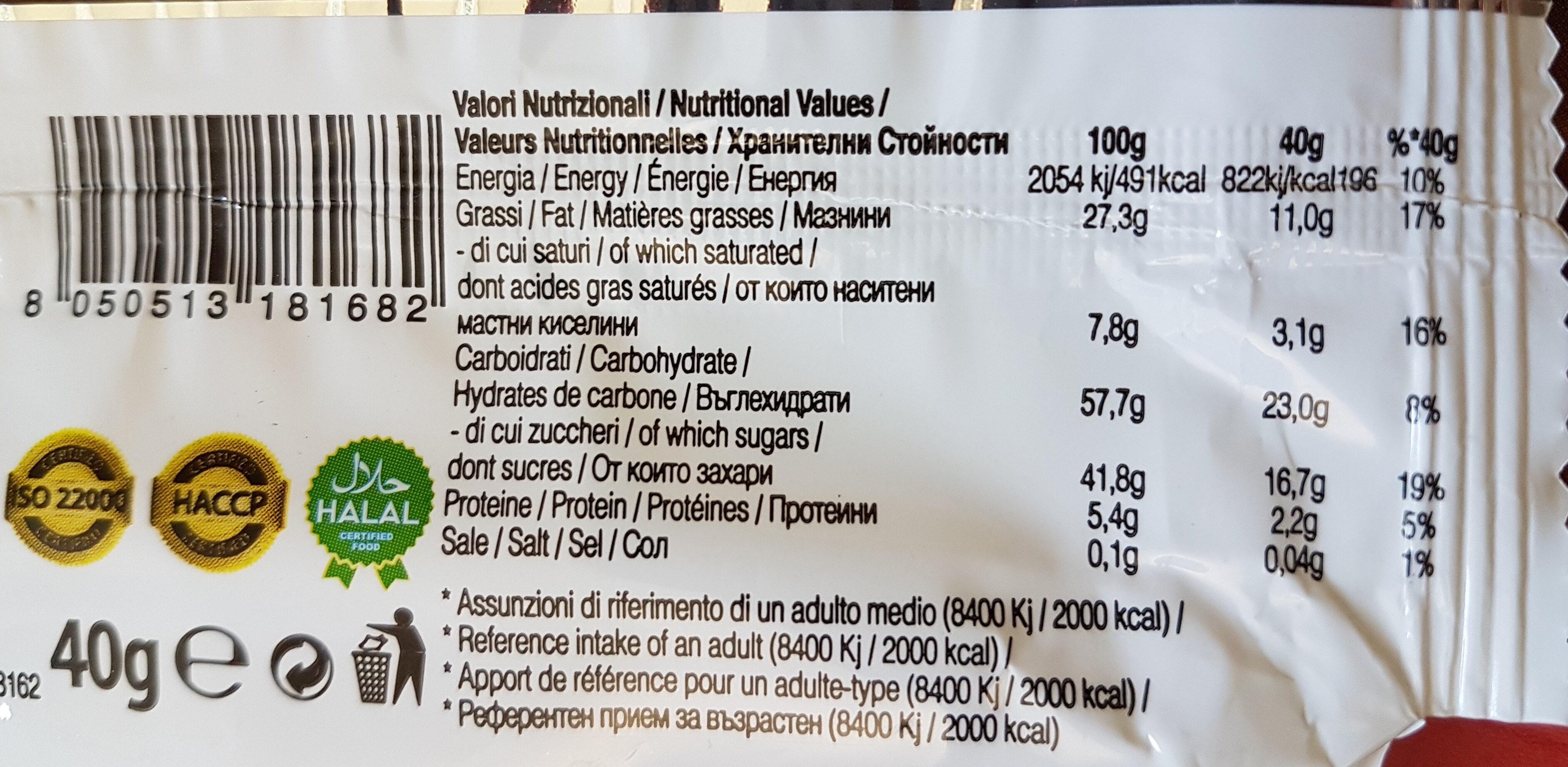 Nocciolotto - Informations nutritionnelles - fr