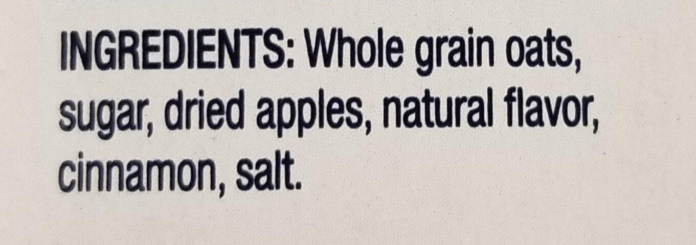 Instant Oatmeal Apples & Cinnamon - Ingredients