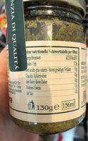 Pesto  genovese - Informations nutritionnelles