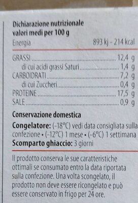 Burger con tonno a pinne gialle - Nutrition facts - it