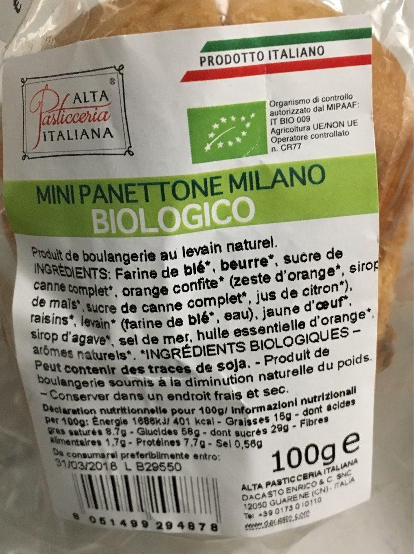 Mini panettone milano - Produit - fr