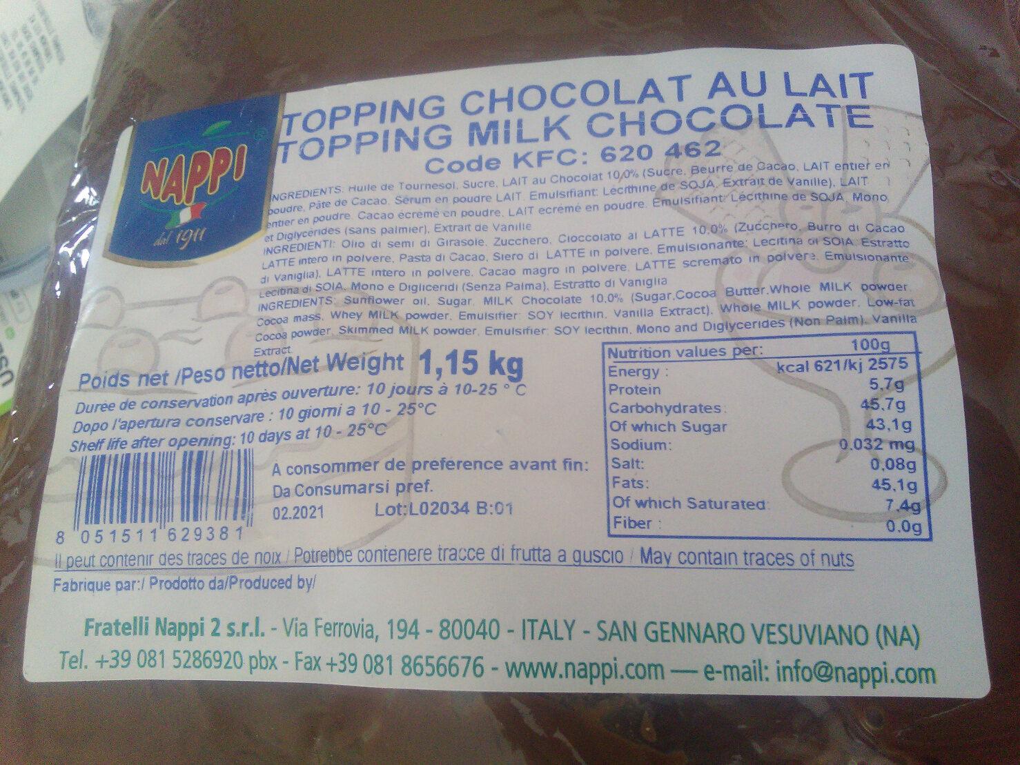 Topping Chocolat au lait - KFC - Product - fr