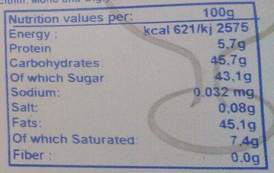 Topping Chocolat au lait - KFC - Voedingswaarden - fr