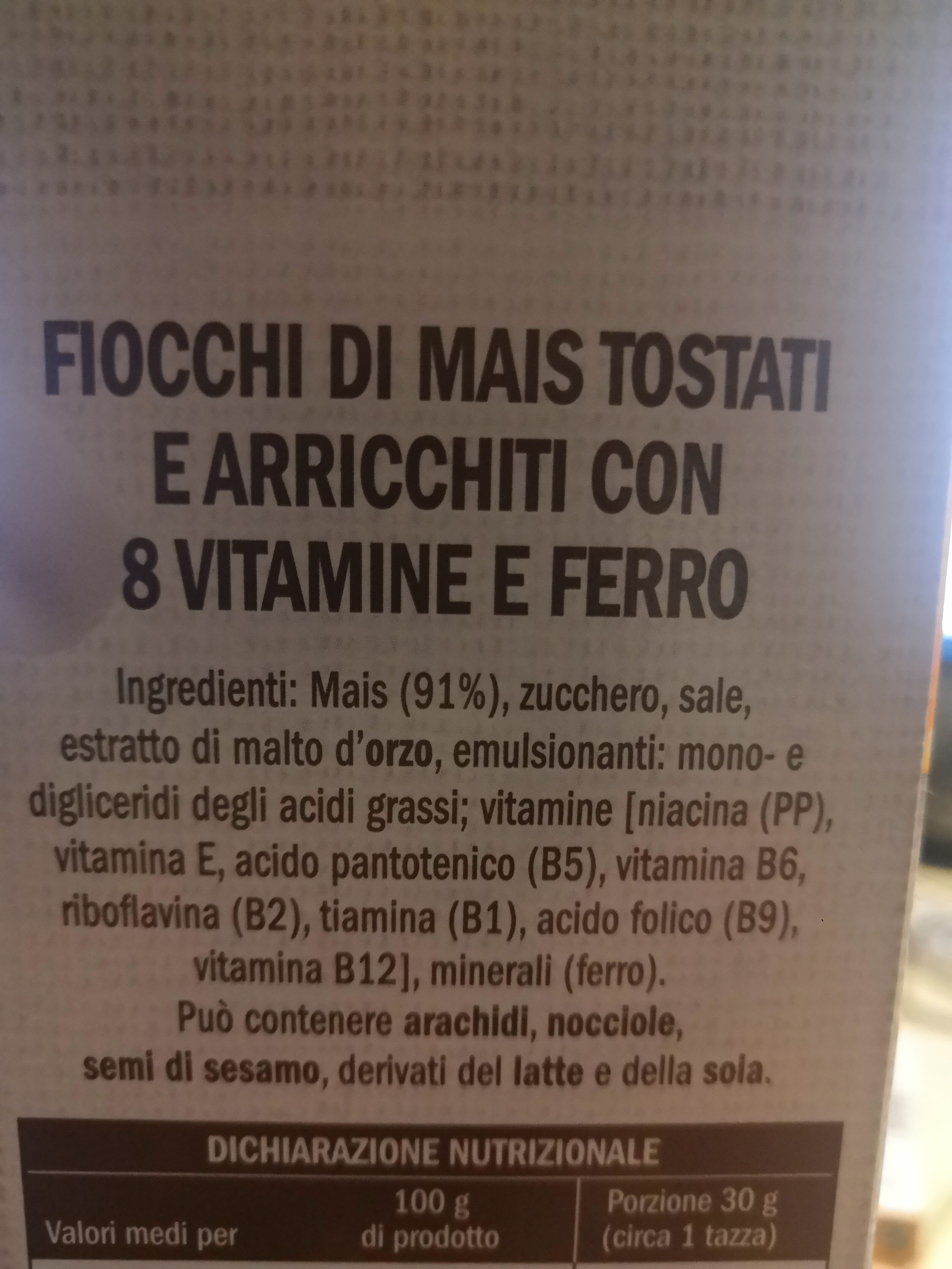 Corn flkes - Ingredients - it