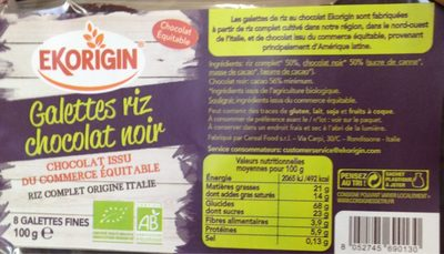 Galettes Riz Chocolat Noir - Product