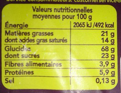 Galettes Riz Chocolat Noir - Nutrition facts