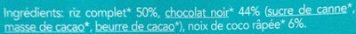 Galette de riz chocolat noir coco - 成分 - fr