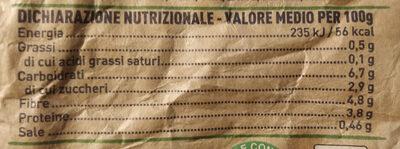 Contorno vignarola - Valori nutrizionali - it
