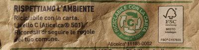 Contorno vignarola - Istruzioni per il riciclaggio e/o informazioni sull'imballaggio - it