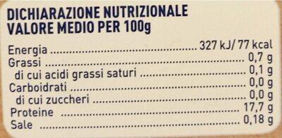 Merluzzo nordico - Informations nutritionnelles - it