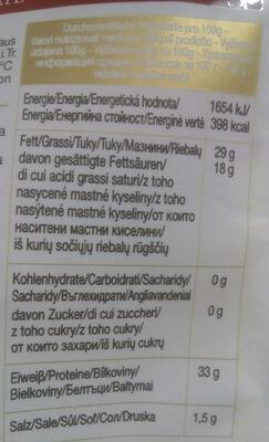 Grana Padano - Nutrition facts