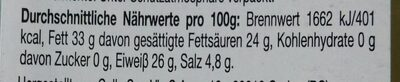 Pecorino Romano - Nutrition facts - en