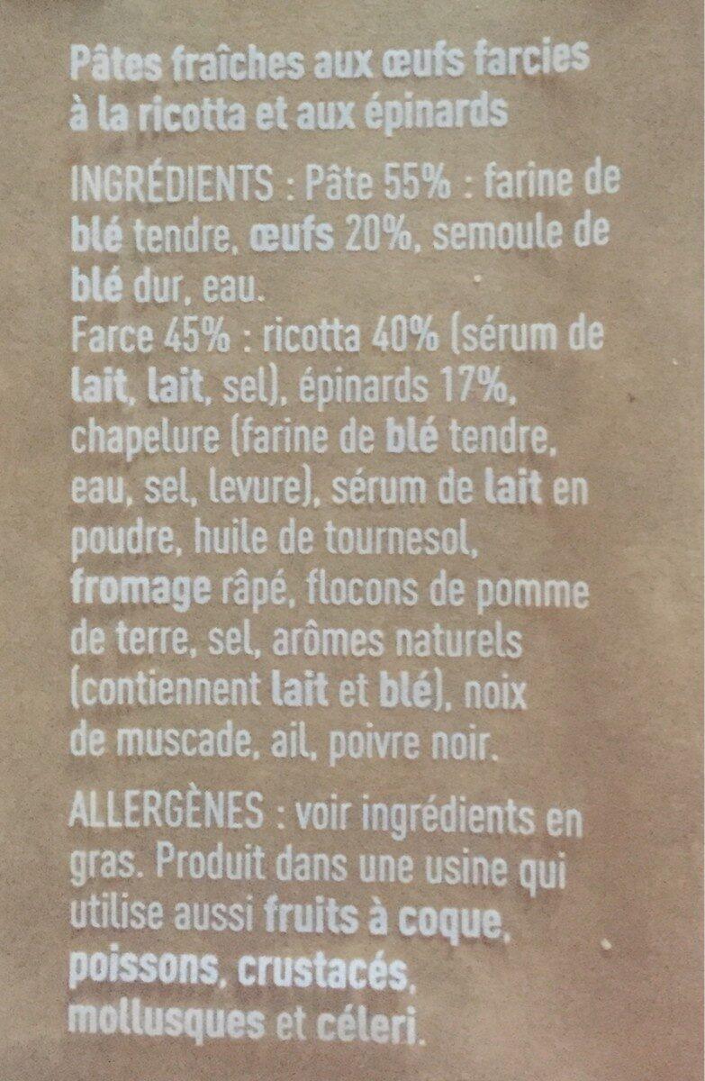 Tortellini Ricotta & Epinards - Ingrédients - fr