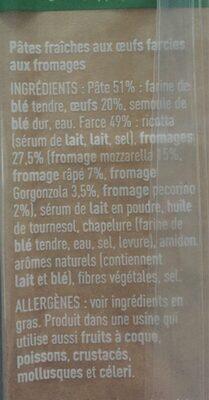 Ravioli 4 Fromages - Ingrediënten - fr