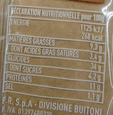 Ravioli Jambon Cuit, Petits Pois et Mozzarella - Voedingswaarden - fr