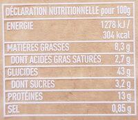 Cappelletti Jambon Cru - Informació nutricional - fr
