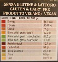 Cioccolato di modica - Valori nutrizionali - it