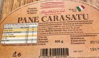Pane carasatu - Informations nutritionnelles