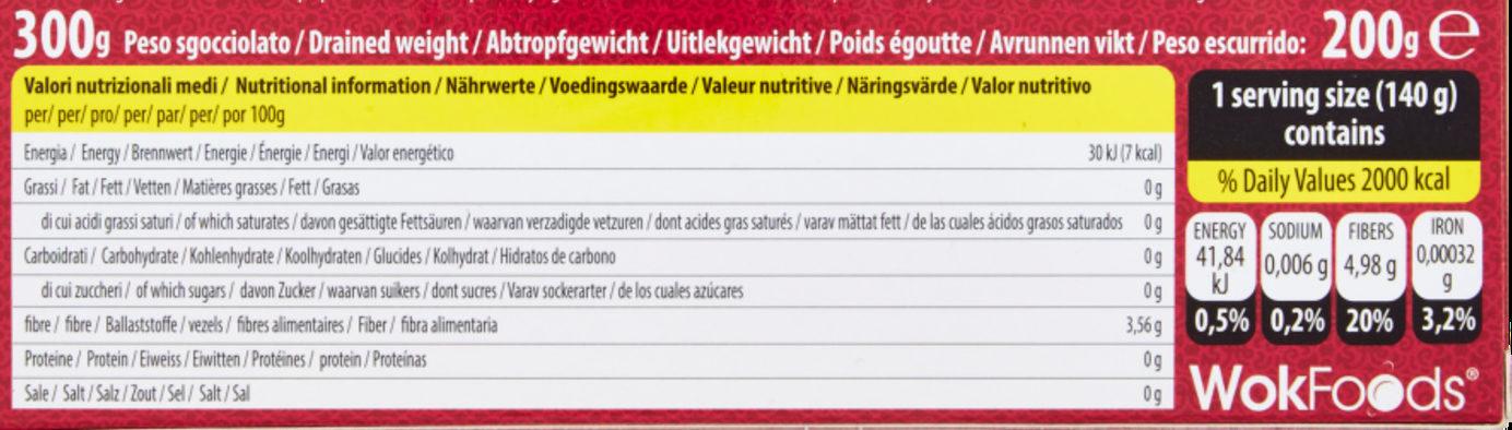 Shirataki konjac - Pâtes à base de farine de konjac - Nutrition facts - en