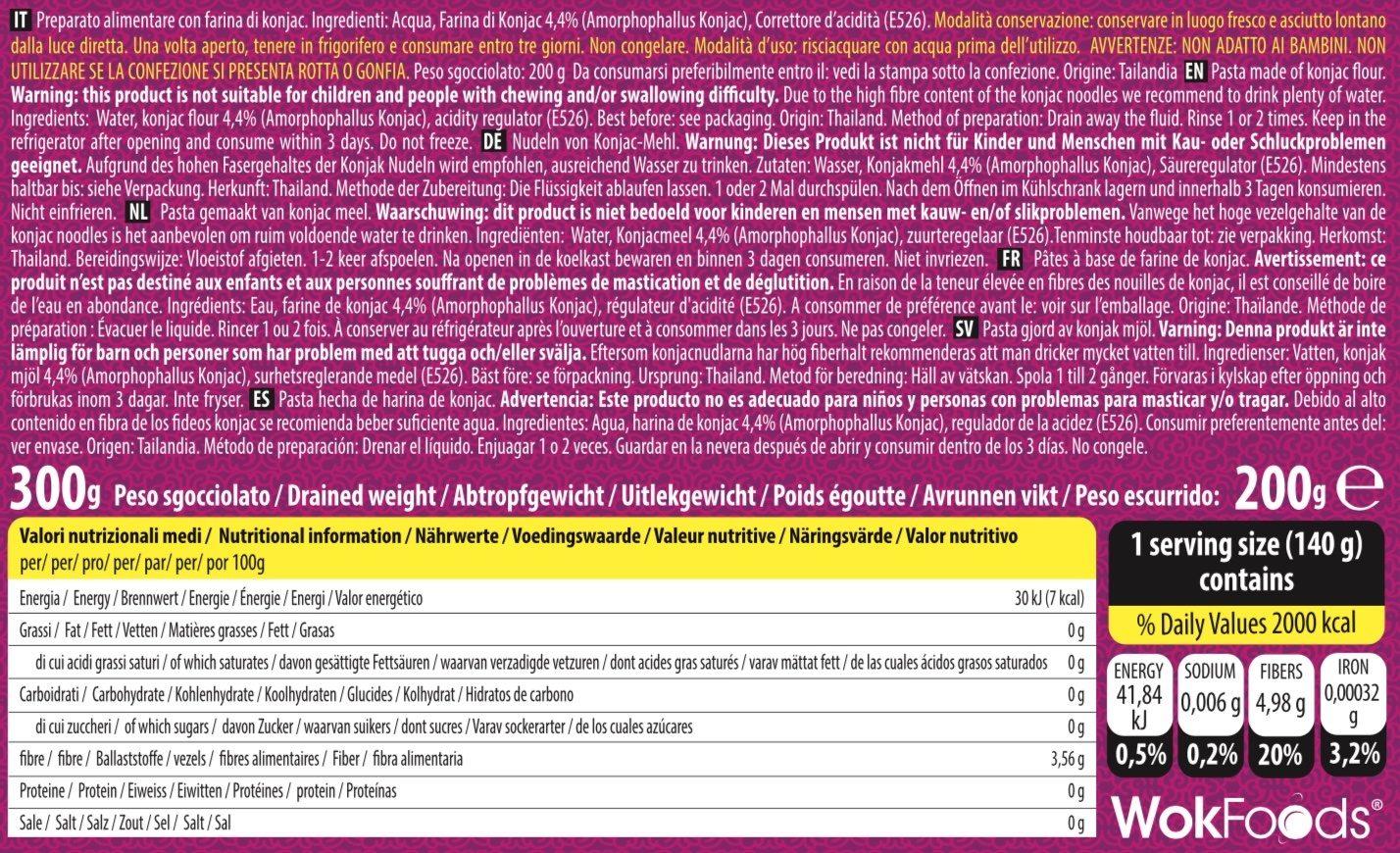 Konjac Linguine - Ingredienti